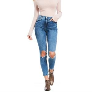 NEW Free People Busted Knee Skinny Jeans Size 29